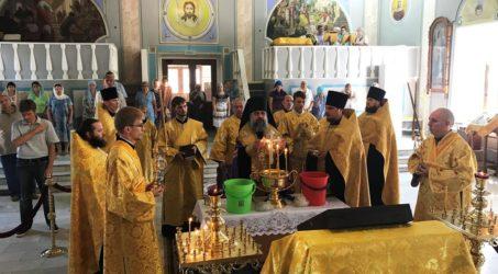 Преосвященнейший епископ Герман совершил малое освящение главного предела кафедрального собора города Ейска