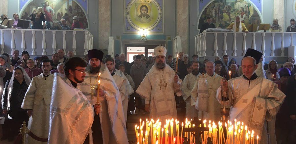 В Димитриевскую родительскую поминальную субботу Преосвященнейший епископ Герман возглавил Богослужение в кафедральном соборе города Ейска