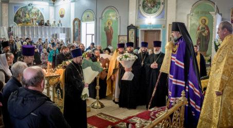 Епископ Ейский и Тимашевский Герман возглавил престольные торжества в кафедральном соборе епархии